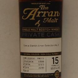 Arran Malt C1119 Sherry 15 år 55% alc
